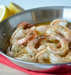 It doesn't get any easier - this shrimp dinner cooks in 15 minutes!