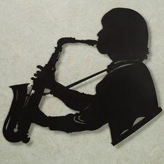 Saxophone Vibes Metal Wall Art