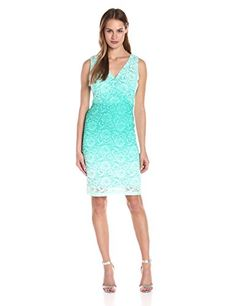 Sangria Womens Ombre Laced Sheath Tahiti 2 -- Click on the image for additional details.