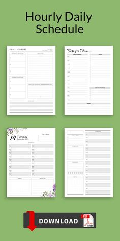 Hourly Daily Schedule template has a simple design and its structure is easy to use. Getting organized and focused can make all the difference. It is available for downloading in PDF in A4/A5/US Letter/Half Letter sizes. #hourly #daily #2021 #hour #2021 Daily Planner Pages, Hourly Planner, Daily Planner Printable, Planner Inserts, Planner Template, Daily Schedule Template, Task To Do, Morning Thoughts, As You Like