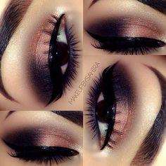 Pretty black n pinkish eye chador