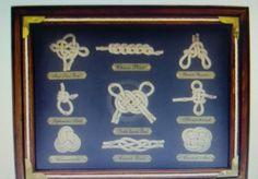 Sailors Knot Shadow Box Nautical Office Home Decor Man Cave Women