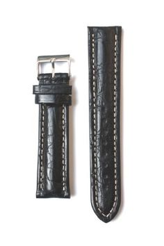 20mm Black Matte Genuine Crocodile Breitling Style Watchband Made in Italy >>> Learn more by visiting the image link.