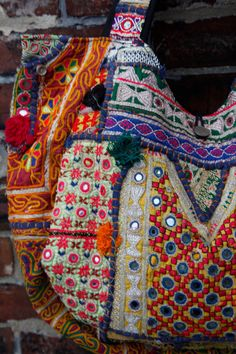 Handmade one of a kind vintage embroidered Kutch Indian hippie ethnic gypsy large tote bag on Etsy, Sold
