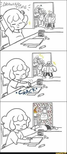 Undertale reacts to fan-fiction and fan-art, but afterwards they see frisk preparing to draw Comics Undertale, Toriel Undertale, Undertale Comic Funny, Undertale Memes, Undertale Fanart, Sans X Frisk Comic, Sans Frisk, Undertale Pictures, Mini Comic