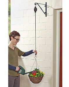 how to hang pulley - Google Search Pulley, Outdoor Power Equipment, Google Search, Cable Machine, Garden Tools, Snail