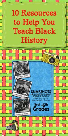 Great ideas for black history month.