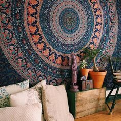 Beautiful Hippie Tapestry Elephant Tapestry Elephant Mandala Tapestries Bohemian Indian Dorm Decor Psychedelic Tapestry Wall Hanging Bedspread by Jaipur Handloom Elephant Tapestry, Blue Tapestry, Indian Tapestry, Bohemian Tapestry, Tapestry Wall Hanging, Wall Hangings, Hippie Tapestries, Dorm Tapestry, Tapestry Bedroom
