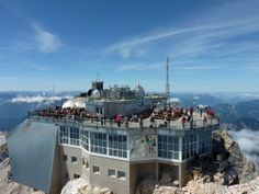 Zugspitze, the tallest mountain in Germany.  Took a cable car to the top!
