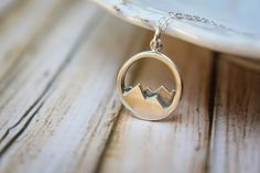 Mountain Range Necklace in Sterling Silver by saffronandsaege