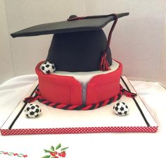 Graduation cake for a soccer player - Cake by Goreti