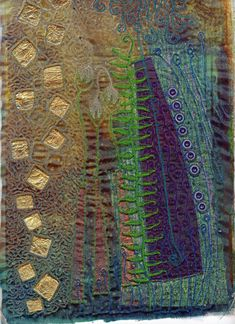 Fabric and textile art using velvet is an easy and amazing textile technique…