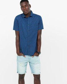 short sleeve horseshoe print shirt