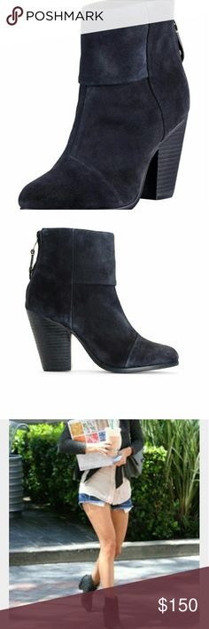 Rag & Bone Newbury navy suede classic ankle boots Luscious Navy suede, gently worn. rag & bone Shoes Ankle Boots & Booties