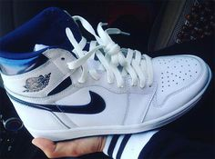 "Jordan 1 High OG ""Metallic Navy"" Release Details | SneakerNews.com"