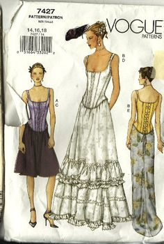Vogue  Wedding Dress Pattern Dress Gown Pattern by TheIDconnection, $45.00