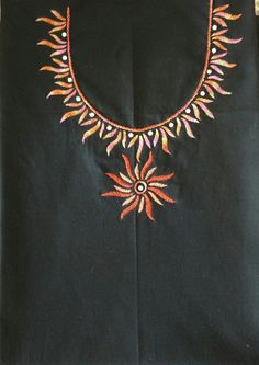 Image result for hand embroidery designs for neck