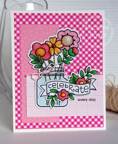 Celebrate Every Day card by Michele Boyer for Paper Smooches - Best Buds stamps and dies