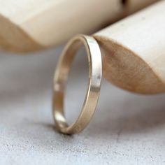 Gold wedding ring 14k gold woman's simple wedding band