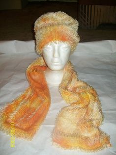 Ladies Fringed Fleece Hat and Scarf by DetroitCouture on Etsy, $40.00