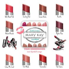 True Dimensions Reg $18 Color Me Coral, Mystic Plum, Natural Beaute, Sizzling Red & Wild About Pink (samples available).
