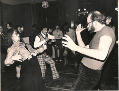 Your dad went to dance parties before you did  Side note; pretty sure dude on right is Allen Ginsberg.