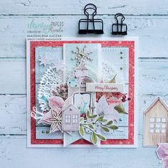 We have simple and pretty card to share with you today. It was made by our very talented Brand Ambassador - Magdalena… A Christmas Story, Christmas Home, Hello Dear, Heartfelt Creations, Pretty Cards, Paper Cards, Dear Friend, Gift Tags, Cardmaking
