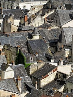 Chinon Rooftops--supposed to centrally located in frace's loire valley
