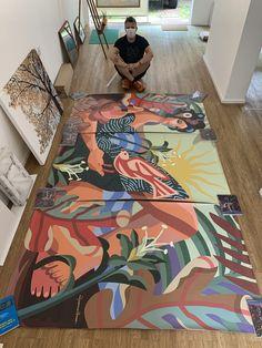 Painting Inspiration, Art Inspo, Modern Art Paintings, Human Art, Gouache Painting, 2d Art, Brazil, Cool Art, Art Projects
