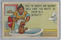 Shut Yo' Mouth Mammy Will Have You White Vintage Post Card Black Americana | eBay
