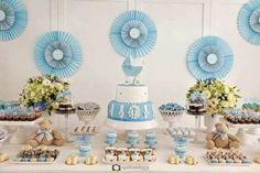 decoração provençal simples chá de fraldas
