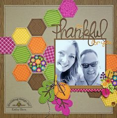 *** Doodlebug Design *** So Thankful for You - Scrapbook.com - Made with Friendly Forest collection.