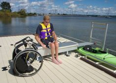 New dock device helps people in wheelchairs go boating