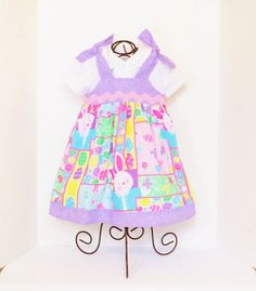 Girls BOUTIQUE EASTER DRESS Size 6mo to 5 Spring by GracesFancy