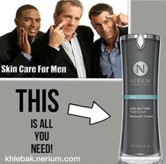 Because men want to look their best!  Men use Nerium, too!  #greatskin #men #skincare #neriumAD #antiaging #nightcream #skincareformen