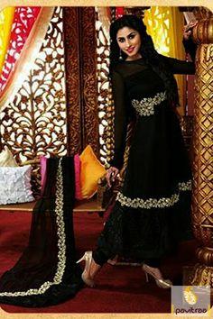 Pavitraa Black Color #Designer #Embroidery #Salwar Suits