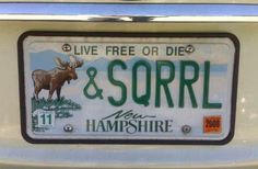 I would move to New Hampshire if I could have a Moose and Squirrel license plate, too!!!