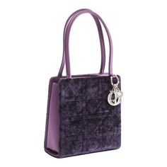 Petite Christian Dior Lady Dior Bag - Crushed Purple Velvet and Crystal Embellished Jewelry Shop, Jewelry Accessories, Christian Dior Designer, Lady Dior, Purple Velvet, Little Bag, New Bag, Mini Bag, Bag Making