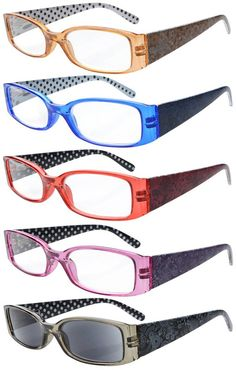 716a2740934 MEGA DESIGNER 5-PACK 1.50 Fashion Folding Mens Womens Unisex READING GLASSES