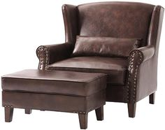 Bonded Leather Brown chair - home decorators - $639 plus $75 delivery