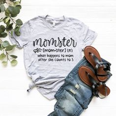 Momster Graphic T-Shirt, Sassy Graphic Tee, Unisex T-Shirt, Funny Graphic T-Shirts, Gifts For Mom, Gifts For Her