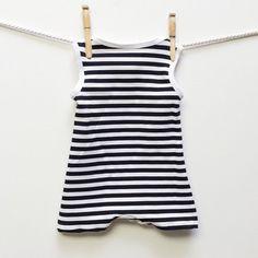 Retro Striped Baby Swimsuit Baby Boy Swimwear by mabelretro