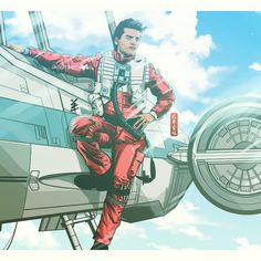 Finally, I can boast that I made a first manga anime. It has taken a lot of work, especially in the colors. Poe Dameron of Star Wars Episode VII. I hope you like it! Illustration made in MangaStudi...