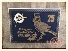 SteamPunk Christmas Card using 'SteamPunk Christmas' stamp set designed by Sam Poole (Creative Studios)