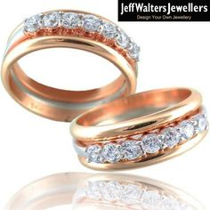 Custom Jewelry, Gold Jewelry, Diamond Wedding Bands, Wedding Rings, Design Your Own, You Got This, Custom Design, Diamonds, Rose Gold