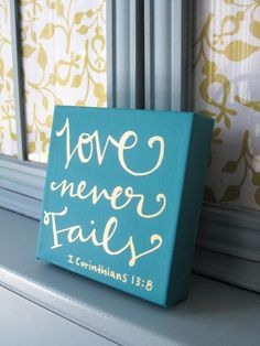 Bible verse canvas // Scripture art by ... Good to use for make sure of the more important things verse                                                                                                                                                      More
