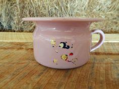 Vintage Pink Porcelain Enamel Childs Chamber by KirasCuriosities