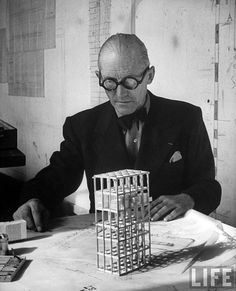"""Le Corbusier, the father of """"international style"""" design. Life magazine. city-furniture blog"""