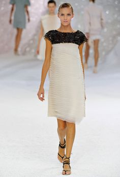 chanel, white organza dress