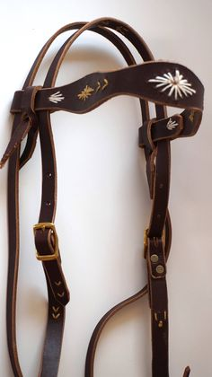 Custom Bridle - Western Headstall - Embroidered Leather Headstall - Custom Halter - Horse Lover Gift - Horse Tack - Equestrian by VaqueraLeatherAndArt on Etsy